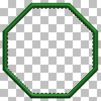 Using the Magic Wand tool to select 'inside' the octagon